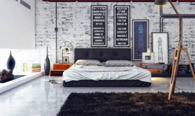 9 υπνοδωμάτια βιομηχανικού στιλ που θα εντυπωσιάσουν και τους πιο ρομαντικούς τύπους