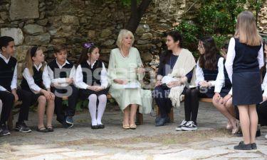 Camilla Parker Bowles: Η επίσκεψή της στην Μονή Καισαριανής