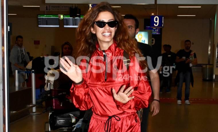Eurovision 2018: Καρέ καρέ η άφιξη της Ελένης Φουρέιρα στην Ελλάδα