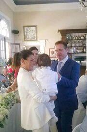 Λεωνίδας Κόκκας: Η βάπτιση του γιου του Ολυμπιονίκη της άρσης βαρών στη Ζάκυνθο