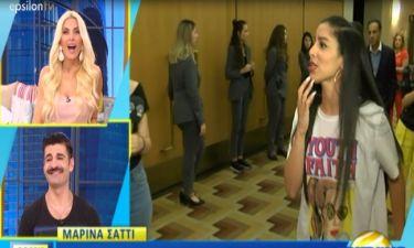 Η Καινούργιου έμεινε άφωνη: Η Μαρίνα Σάττι διέκοψε την συνέντευξη, ζήτησε συγγνώμη και...