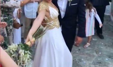 Οι πρώτες εικόνες από τον γάμο της ηθοποιού της σειράς «Μπρούσκο» - «Παρών» ο Ανδρέας Γεωργίου