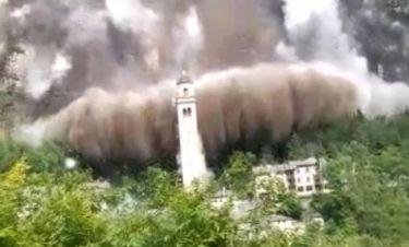 Τρομακτική κατολίσθηση «καταπίνει» εκκλησία στην Ιταλία