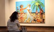 Στέλλα Καπεζάνου: Εγκαινίασε την πρώτη της έκθεση ζωγραφικής στην Ελλάδα