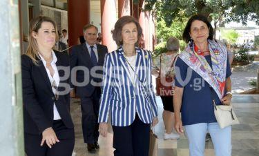 Βασίλισσα Σοφία: Με την αδελφή της επισκέφθηκαν το Αρχαιολογικό Μουσείο Ηρακλείου