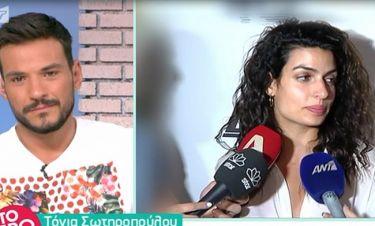 Τόνια Σωτηροπούλου: Δείτε την αντίδρασή της όταν την ρωτούν για τον Μαραβέγια
