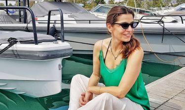 Πόπη Τσαπανίδου: Σαββατιάτικη βόλτα στη θάλασσα