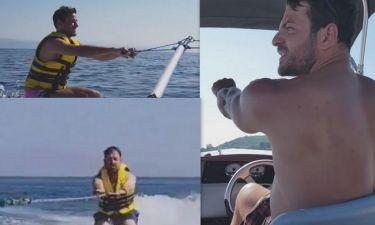 Γεωργαντάς - Τσουρός: Έκαναν πρώτη φορά θαλάσσιο σκι με δάσκαλο τον Ντάνο