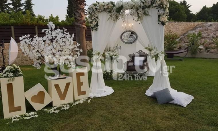 Στην γαμήλια δεξίωση των Αλεξάνδρας Παναγιώταρου - Αριστομένη Γιαννόπουλου