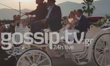 Παραμυθένιος γάμος για την Αλεξάνδρα Παναγιώταρου - Με άμαξα στην εκκλησία