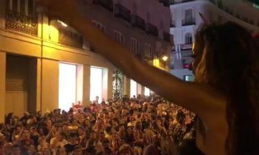 Ελένη Φουρέιρα: Η εμφάνισή της στην σκηνή στην Μαδρίτη και η συγκίνησή της