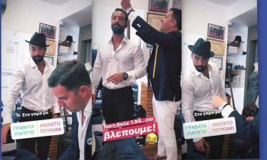 Τανιμανίδης: Ο σχεδιαστής παίρνει μέτρα για το κουστούμι του γάμου και δε φαντάζεστε τι ανακαλύπτει