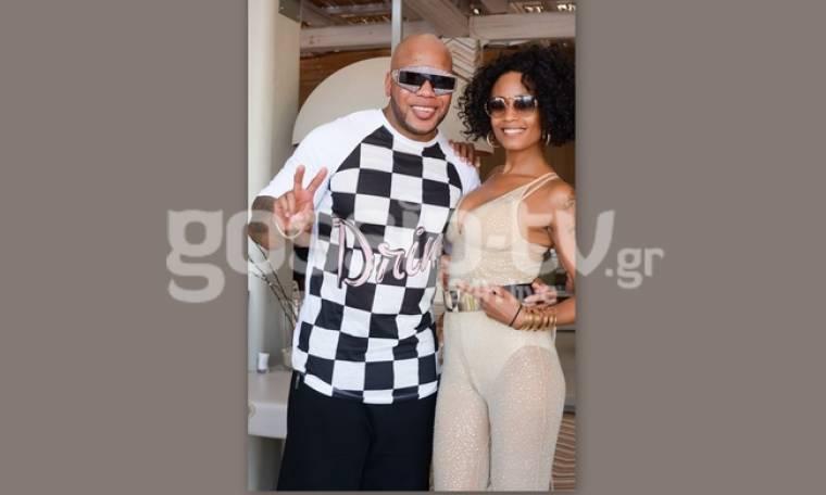 Shaya: Ποζάρει με τον Flo Rida στη Μύκονο