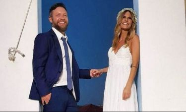 Η τρυφερή αφιέρωση του Βαρδή στη γυναίκα του για την πρώτη επέτειο του γάμου τους!