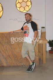 Χρήστος Φερεντίνος: Οι ξέγνοιαστες στιγμές του στη Σκόπελο