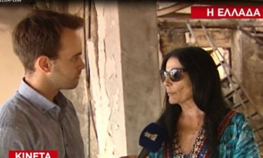 Συντετριμμένη η Ζωζώ Σαπουντζάκη on camera: «Λυπάμαι, κουράγιο»
