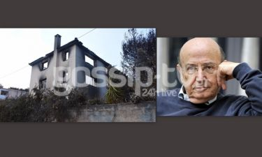 Κάηκε ολοσχερώς το σπίτι του αείμνηστου Θόδωρου Αγγελόπουλου στο Μάτι