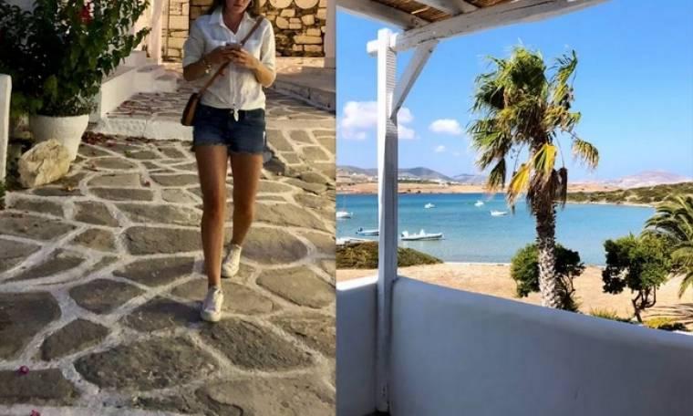 Πρωταγωνίστρια τουρκικής σειράς του Mega κάνει διακοπές στην Ελλάδα
