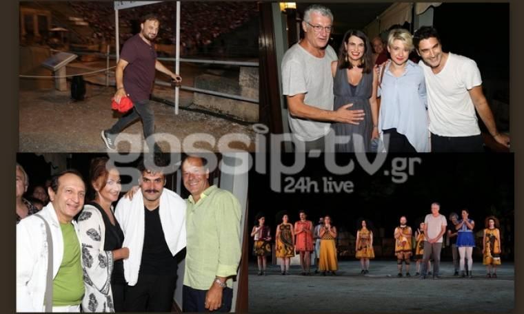 Δείτε ποιοι πήγανε στην Επίδαυρο για την παράσταση «Θεσμοφοριάζουσες»