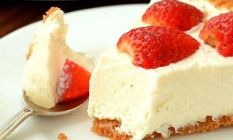 Πανεύκολο cheesecake χωρίς ψήσιμο (video)
