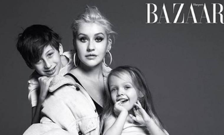 Διάσημοι τραγουδιστές ποζάρουν με τα παιδιά τους για το Harper's Bazaar
