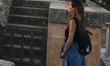 Η Δέσποινα Βανδή με τα παιδιά της στην Κνωσό