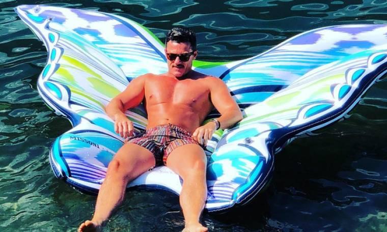 Luke Evans: Οι διακοπές του στην Ιταλία
