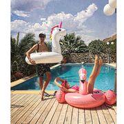 Φαραζή-Μουμούρης: Βουτιές στην πισίνα με… φλαμίνγκο