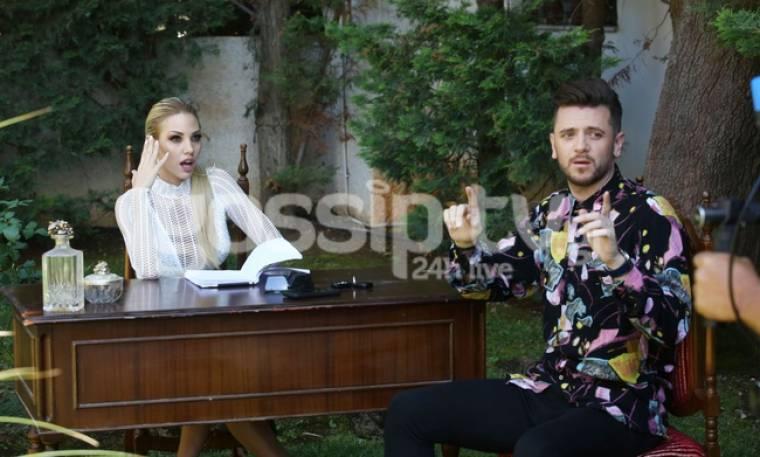 Στα γυρίσματα του video clip του Μπαρίς με την Σάσα Μπάστα