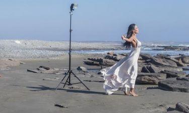 Η Κατερίνα Νάκα σε ρόλο μοντέλου