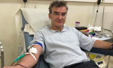 Νίκος Ορφανός: Έγινε δωρητής αίματος