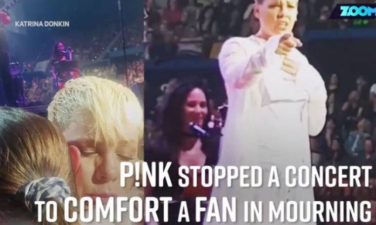 Pink: Σταμάτησε τη συναυλία της για να αγκαλιάσει θαυμάστριά της που έχασε την μητέρα της