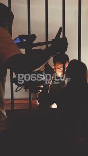 Γιώργος Παπαδόπουλος: «Τρυπώσαμε» στα γυρίσματα του νέου του video clip