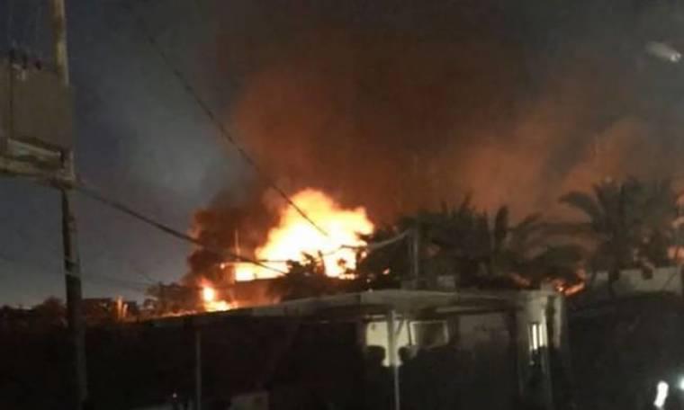 Στις φλόγες η πρεσβεία του Ιράν στο Ιράκ (vid)