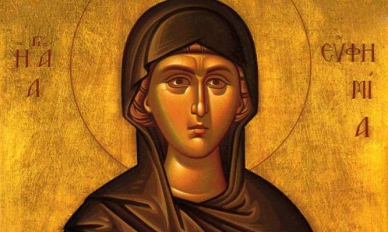 16 Σεπτεμβρίου: Εορτή της Αγίας Ευφημίας