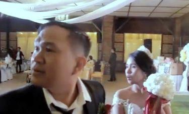"""Σοκαριστικό! Τρόμος σε γαμήλια δεξίωση όταν """"χτυπάει"""" τυφώνας!"""