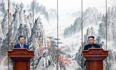 Αυτά περιλαμβάνει η ιστορική συμφωνία μεταξύ Βόρειας και Νότιας Κορέας (pics&vids)
