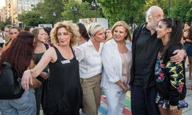 Διονύσης Σαββόπουλος: Κάνει πρόβα στην πλατεία Συντάγματος πριν την συναυλία του στο Ηρώδειο