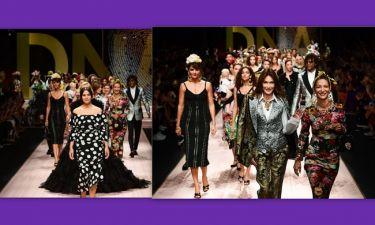 Μπελούτσι, Μπρούνι, Γκράχαμ και σούπερ μόντελ των '90s στην επίδειξη μόδας των Dolce & Gabbana
