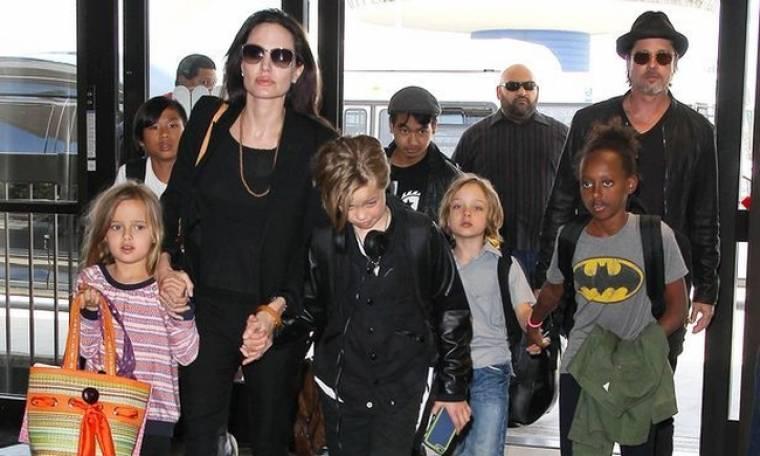 Μυστική συνάντηση Jolie - Pitt για το καλό των έξι παιδιών τους