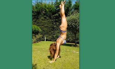 Βίκυ Χατζηβασιλείου: Έριξε το instagram με τις γυμναστικές επιδείξεις της