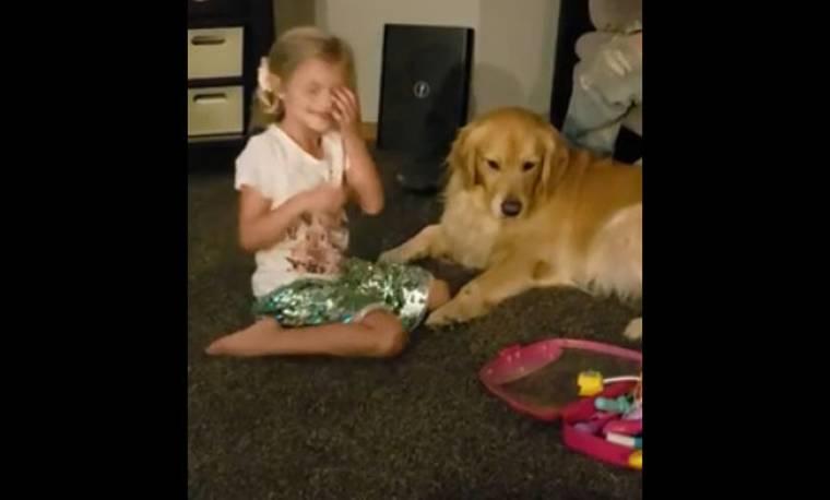 Αυτό το κοριτσάκι θέλει να γίνει κτηνίατρος και το δηλώνει με κάθε τρόπο!