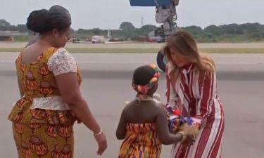 Η Μελάνια Τραμπστη Γκάνα - Δείτε την άφιξή της