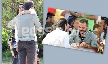 Λεωνίδας Κουτσόπουλος: Το burger, οι μπύρες και η αγκαλιά με τη συνοδό του!