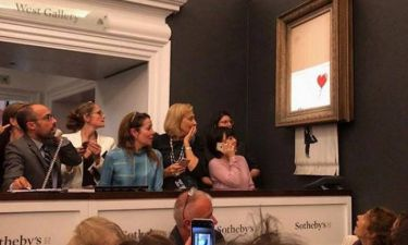 Τολμηρή φάρσα: Πίνακας του Banksy...αυτοκαταστράφηκε αμέσως μετά την πώλησή του