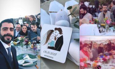 Γάμος Οικονομάκου – Μιχόπουλου: Με κουβέρτες στις πλάτες οι καλεσμένοι στη δεξίωση