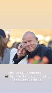 Βάσω Λασκαράκη: Με τον Λευτέρη Σουλτάτο στον γάμο της Οικονομάκου