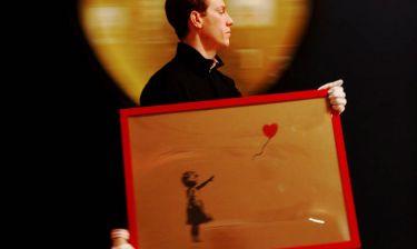 Love is in the Bin: Το «Κορίτσι με το μπαλόνι» του Banksy μετονομάστηκε και η αξία του διπλασιάστηκε