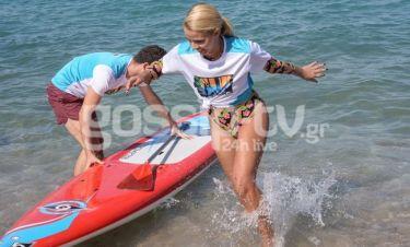 Παιχνίδια στο νερό για το ερωτευμένο ζευγάρι