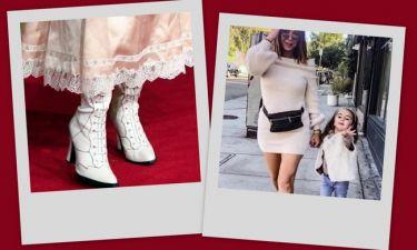 Τα oversized πουλόβερ και οι λευκές μπότες είναι τα hot trends του φετινού φθινοπώρου!